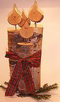 birkenkerzen deko birkenkerzen deko weihnachten weihnachtsgeschenk geschenk holzkerze. Black Bedroom Furniture Sets. Home Design Ideas